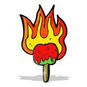 Hot toffee apple cartoon — Vecteur