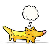 Cartoon little dog with thought bubble — Stock vektor
