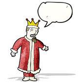 Cartoon king with speech bubble — Stock Vector