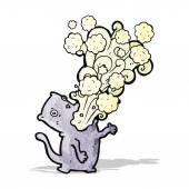Burping cat cartoon — Stock Vector