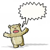 Shouting teddy bear cartoon — Stock Vector