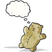 Fat teddy bear cartoon — Stock Vector