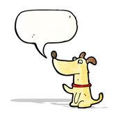 Cartoon little dog with speech bubble — Stock Vector