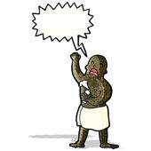 мультфильм человек в пении полотенце — Cтоковый вектор