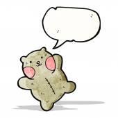 Милый мультфильм плюшевый медведь — Cтоковый вектор