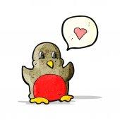 Funny christmas robin cartoon — Stock Vector