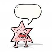 Cartoon pink star character — Stock Vector