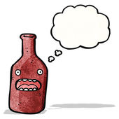 Cartoon bottle with face — Stock Vector