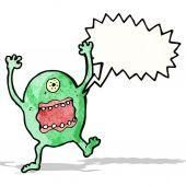 Shouting alien cartoon — Stock Vector