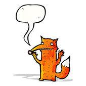 Happy fox cartoon — Stock Vector