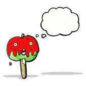 Dessin animé toffee apple — Vecteur