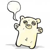 Cartoon tired little polar bear — Stockvector