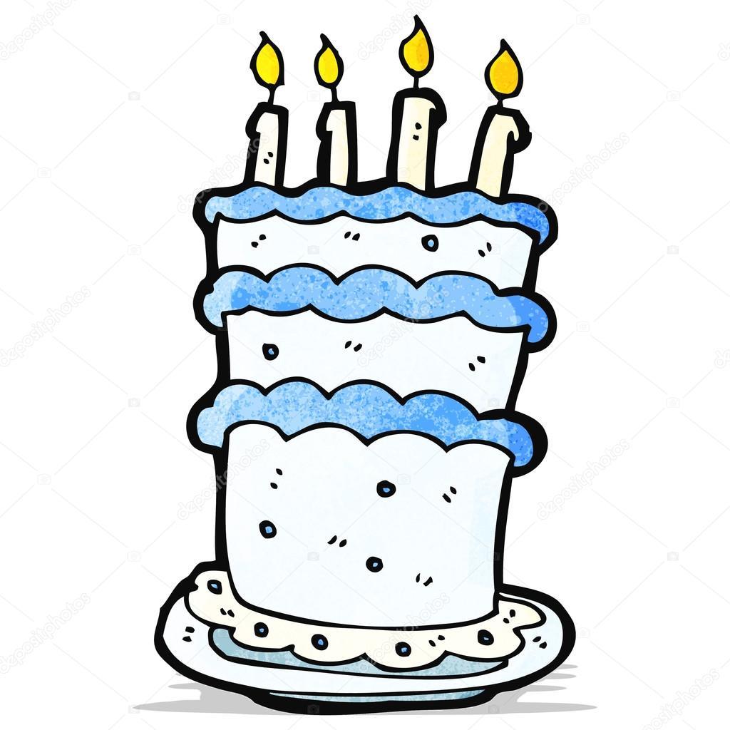 大卡通生日蛋糕 — 图库矢量图像08