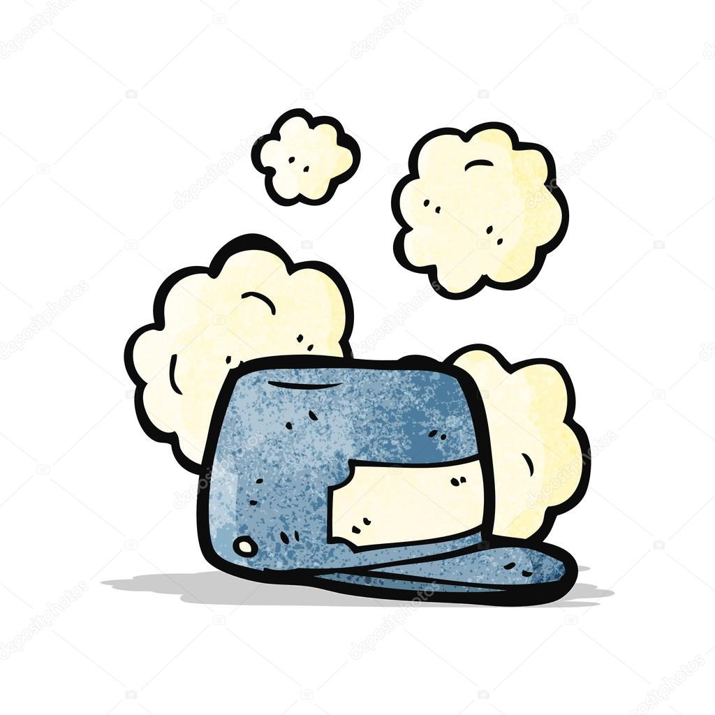Cappello di cartone animato treno driver — vettoriali