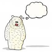 Polar bear cartoon — Stock Vector