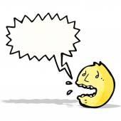 Cartoon stressed face symbol — Stock Vector