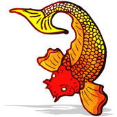 Japanese fish tattoo — Stock Vector