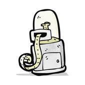 Cartoon stock ticker machine — Stock Vector