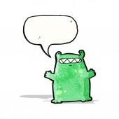 Cartoon alien slug monster — Stock Vector