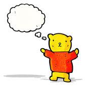 Cute little teddy bear cartoon — Stock Vector
