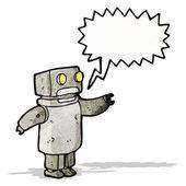 Cartoon robot with speech bubble — Stock Vector