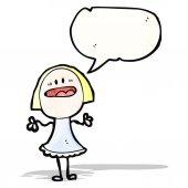 Cartoon anxious woman — Vetorial Stock
