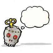 Cartoon spooky robot head — Stock Vector