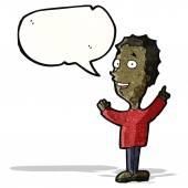 Cartoon man explaining idea — Stock Vector