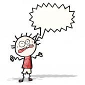 Cartoon stressed doodle boy — Stock Vector