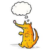 卡通狗与思想泡泡 — 图库矢量图片