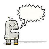 Cartoon talking robot — Stock Vector