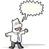 Cartoon insane boss — Stock Vector