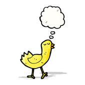 Pájaro de dibujos animados con globo — Vector de stock