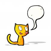Little cartoon cat — Stock Vector