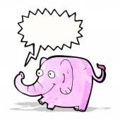 Cartoon rosa elefant trompetet — Stockvektor