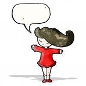 Pretty girl with speech bubble — Stock Vector