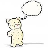 Cartoon cute teddy polar bear — Stock Vector
