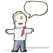 Cartoon excited businessman — Stock Vector