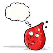 Happy blood drop cartoon character — Stock Vector