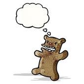 Wütend kleiner bär cartoon — Stockvektor