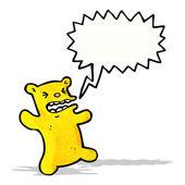 Cartoon angry little bear — Stock Vector