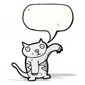 Cartoon cat with speech bubble — Stock Vector