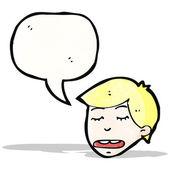 Cartoon talking man — Stock Vector