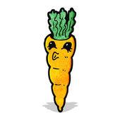 Cartoon wortel — Stockvector