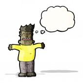 Karikatur Mann mit Gedanken bubble — Stockvektor