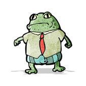 Cartoon frog boss — Stock Vector
