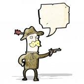 Vaquero de la historieta — Vector de stock