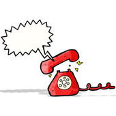 Cartoon ringande telefon — Stockvektor