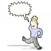 Cartoon gek dansende man — Stockvector