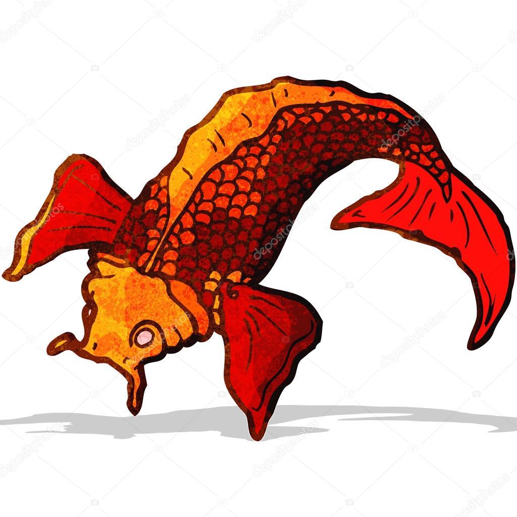Cartone animato giapponese pesce tatuaggio — vettoriali